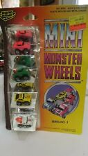 Road Champs Mini Monster Wheels '57 Chevy Tow Truck & 2 Other Cars Series No. 1