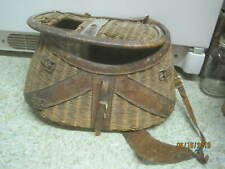 Vintage split Willow Fishing Creel with Leather Straps