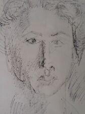 David LAN-BAR Encre-Pologne-Israël-DESSIN-Portrait-Ecole de Paris-Judaica