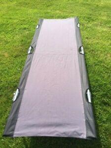 VANGO 190cm FOLDING CAMP BED In Own Carry Bag in Black