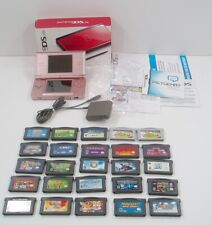 Nintendo Gameboy DS Lite & Advance Game Lot – 25 games Tested Mario Sonic Pink