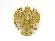Gold Plated Casting of Russian Imperial Double Headed Eagle Romanov Coat of Arms