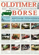 OLDTIMER BÖRSE - Magazin Kleinanzeiger Ersatzteile 6 02/03 - B15295