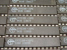 10x Cypress CY7C199-15PC 32Kx8 15ns Cache SRAM memory 300PDIP28 Tested 0 Defects