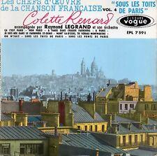 """COLETTE RENARD. SOUS LES TOITS DE PARIS. RARE FRENCH GIRL EP 7"""" 45 1959"""