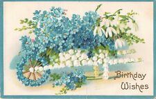 Wheelbarrow of Lily of the Valley-Carries Snowdrops & Forget-Me-Nots-1912 PC