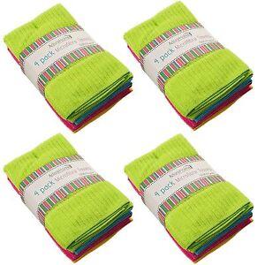 12 Microfibre Multi Purpose Utility Cloths Towels Assorted Colours