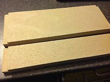 2 Stk. Zugumlenkplatte vorne + hinten f. Haas Kaminofen Molde u.a Rauchgasplatte