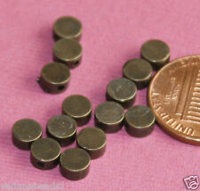 25 metal spacer beads, Antiqued Brass Flat Round Beads 5x2.5mm
