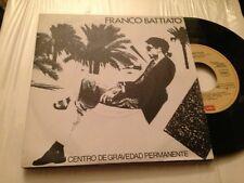 "FRANCO BATTIATO - SPANISH 7"" SINGLE SPAIN PROM0 - CENTRO DE GRAVEDAD PERMANENTE"