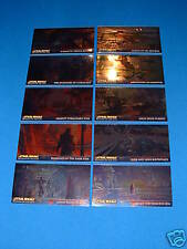 TOPPS STAR WARS ROTS WIDEVISION CHROME CARDS R1-R10 SET