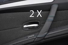 BLUE STITCH  FITS BMW E60 E61 07-11 FACELIFT 2X REAR DOOR HANDLE COVERS