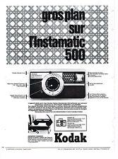 PUBLICITE ADVERTISING 054  1965   KODAK  appareil photo INSTAMATIC 500