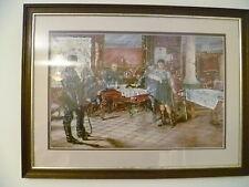 'J MORRISON SMITH' WW1 PRINT OF GERMANS INTERROGATING A PRISONER. MILITARIA