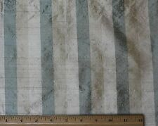 "Green/Beige/Cream Dupioni Stripes 100% Silk Fabric 54"" Wide By The Yard (SD-653)"
