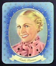 Traut Flamme 1934 Garbaty Film Star Series 2 Embossed Cigarette Card #272