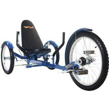 "TriTon 20"" 3 WHEEL Tricycle RECUMBENT Trike Bike Blue"