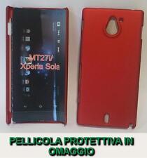 Pellicola + custodia BACK cover RIGIDA ROSSA per Sony Xperia sola MT27i