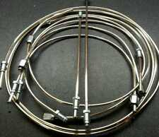 FORD CORSAIR 2000E AND GT - FULL POLISHED CUPRO-NICKEL BRAKE PIPE SET