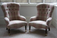 Traditional Armchairs With A Button Detail Victorian Style Hand Made