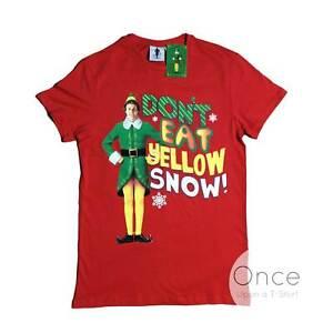 Mens Unisex Buddy The Elf Don't Eat Yellow Snow Christmas T-Shirt