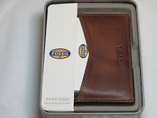 Fossil ML3649200 Quinn Card Case Brown wallet genuine leather men's credit ID