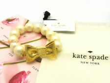 NWT Kate Spade All Wrapped Up In Pearls Cream/Gold Bracelet o0ru1740