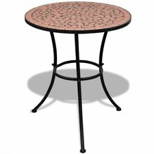 Mosaic Side Table 60 Cm Ceramic Terracotta Bistro Bar Garden Porch Balcony Patio