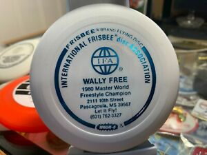 "Wham-o Frisbee 4"" mini IFA calling card Wally Free 1980 Master Freestyle champio"