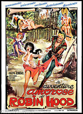 LE AVVENTURE AMOROSE DI ROBIN HOOD MANIFESTO CINEMA USA 1969 MOVIE POSTER 2F