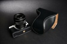 Genuine real Leather Full Camera Case bag for CANON EOS-M2 ZOOM Lens Black color