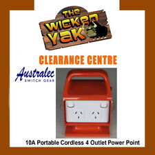 AUSTRALEC 4 Way 10 Amp Cordless Portable Power Board RCD/MCB Box SG10LL-NEW