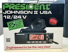 President Electronics Johnson II USA 40 Channel CB Radio 12/24V Brand NEW