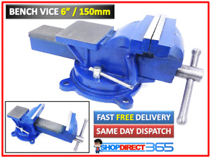 """6"""" 150mm Jaw Bench Vice Workshop Swivel Base Clamp Work Bench Cast Iron UK 15-54"""
