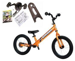 STRIDER 14x Sport 2 in 1 Balance Bike w Pedal Kit Kids Learn To Ride Pre Bike TT