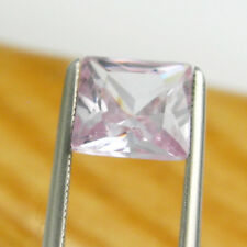 Square 7x7mm Princess Cut Light Pink Colour Cubic Zirconia Loose Gemstone