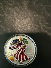 2005 Painted Colorized Silver Eagle 1oz .999 Fine $1 Bullion