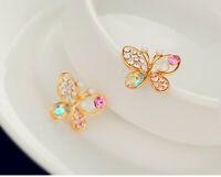 Betsey Johnson Gold Butterfly Earrings, New