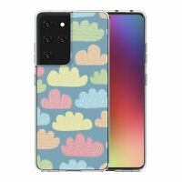 For Samsung Galaxy S21 Ultra Silicone Case Clouds Pattern - S3071