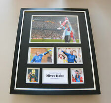 Oliver Kahn Signed Photo Large Framed Bayern Munich Autograph Display + COA
