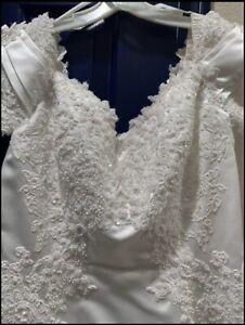 Michaelangelo Davids Bridal Wedding Dress White Size 18 pre owned.