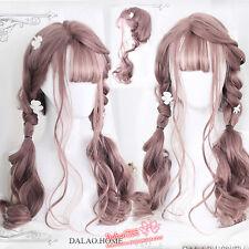 Daily Gothic Harajuku Sweet Japanese Pink Gradient Wig Lolita Curly Hair Mixed
