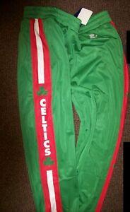 BOSTON CELTICS STARTER Sweat Pants with sewn STARTER Logo GREEN XL 2X 3X