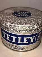 VINTAGE TETLEY 100 TEA BAG TIN EMPTY CANNISTER