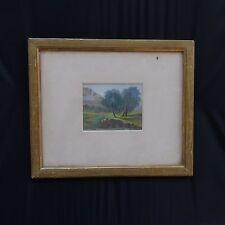 Peinture paysage Bourgeois vintage 1900