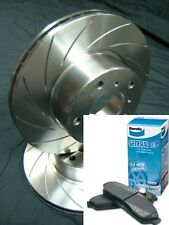 SLOTTED FRONT ROTORS & BENDIX PADS Commodore VT VU VX VY VZ Disc Brake Rotors
