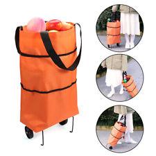Eco Friendly Organizer Foldable shopping bag Trolley Cart Wheels Bag tote pouch