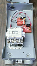 Siemens AC Lighting Contactor CLM0C04 w/Encl w/National Controls Used T/O