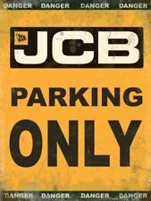 15x20cm JCB Parking Only metal sign wall plaque
