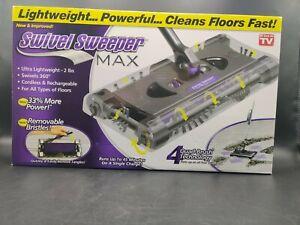Swivel Sweeper MAX Cordless Rechargeable Lightweight Purple AS SEEN ON TV NIB